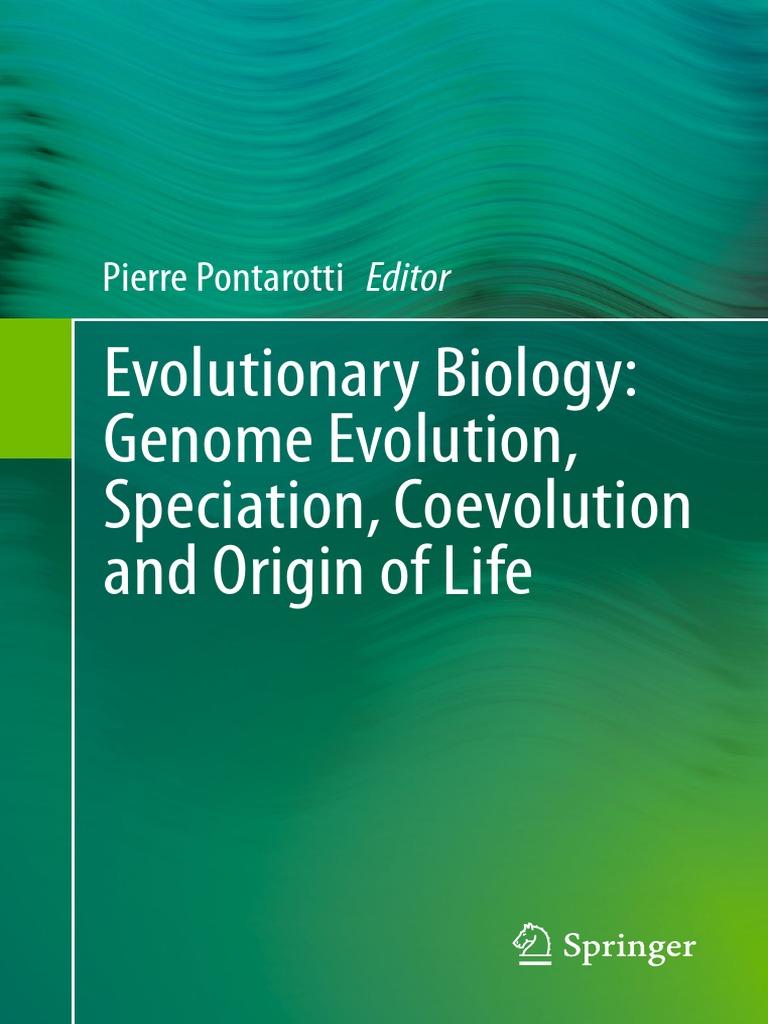 Pierre Pontarotti Eds  Evolutionary Biology Genome Evolution