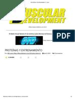 Proteínas y Entrenamiento - Brasil