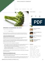 Alimentos Con Picolinato de Cromo.