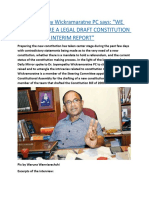 "Dr. Jayampathy Wickramaratne PC says  ""WE CAN'T PREPARE A LEGAL DRAFT CONSTITUTION WITHOUT AN INTERIM REPORT"".docx"