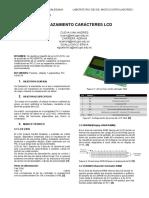 Informe Desplazamiento LCD Caracter