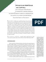 Artigo Anpur Revista. a Metrópole e as Perfídias Do Capital.2014