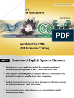 L07 ANSYS WB LS-DYNA - Element Formulations
