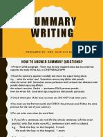 Summary Writing Notes