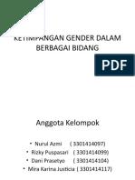 Ppt Ketimpangan Gender Dalam Berbagai Bidang