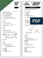 Simulacro i 2017 Aritmética y Geometría 4to
