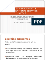 GBUS205 ORGANISATIONAL BEHAVIOUR AND MANAGEMENT LECT  3-1.ppt