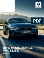 BMW Range Price List
