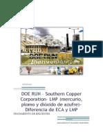 DOE RUN – LMP (Mercurio, Plomo y Dióxido de Azufre)