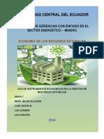 Deber de Economía de los Recursos Naturales Grupo 8