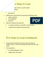 5 Steps to Lean