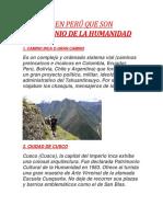 LUGARES EN PERÚ QUE SON PATRIMONIO DE LA HUMANIDAD.docx