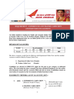 Notification Air India Ltd Experienced Trainee Cabin Crew Posts