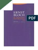 Ernst Bloch - El Principio Esperanza I