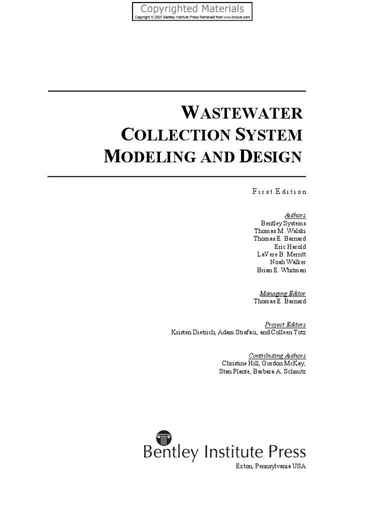 Wastewater Collection System Modeling and Design | Sanitary Sewer ...