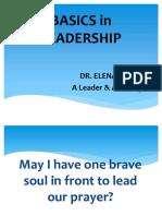 Basics in Leadership Edc