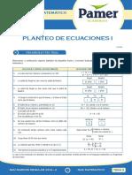 PAMER -- RAZONAMIENTO MATEMÁTICO - PLANTEO DE ECUACIONES