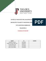 Site Surveying Report (Theodolite) (Autosaved)
