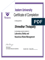 Shreedhar Laboratory Safety and Hazardous Waste Management