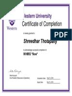 Shreedhar -WHMIS-Workplace Hazardous Materials Information System