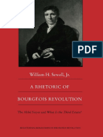 William H Sewell Jr. a Rhetoric of Bourgeois Revolution the Abbé Sieyes and What is the Third Estate