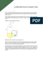 Menentukan Range Differential Pressure Transmitter Untuk Mengukur