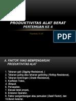 Produktivitas Alat Berat Pertemuan 4 & 5