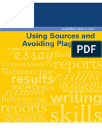 11 Using Sources and Avoiding-Plagiarism Univ Melbourne