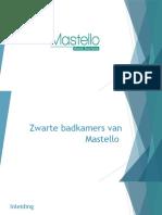 Zwarte badkamer - Mastello