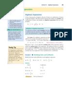 E-Notes 1 - Algebraic Expressions