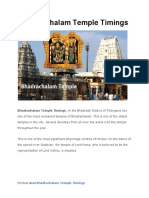 Bhadrachalam Temple Timings