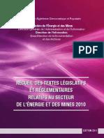 Recueil Des Textes Legislatifs 2010