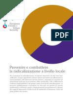 Prevenire e combattere la radicalizzazione a livello locale