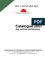 Catalogue Des Normes Tunisiennes 2007