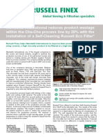 self cleaning industrial filter for the food industry