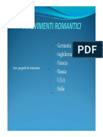 Movimenti Romantici in Europa