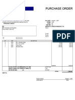 Annex 1 Purchase Order
