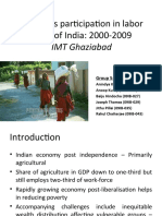 Women's Participation in Labor Force of India