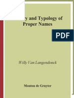 Langendonck W.v.-theory and Typology of Proper Names-Mouton de Gruyter (2007)