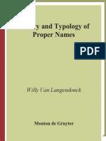 Langendonck W.v.-theory and Typology of Proper Names-Mouton de Gruyter (2007)