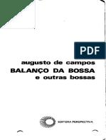 De Campos Augusto Balanco Da Bossa e Outras Bossas
