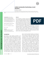 Exploring Mixed Microbial Community Functioning Recent Advances in Metaproteomics
