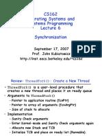 Lec06 Synchronization