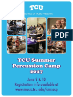 TCU SOS Percussion Camp 2017