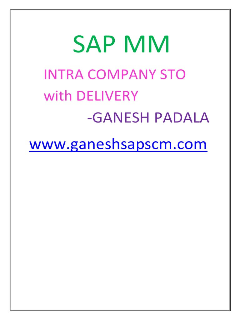 Intra Company Sto With Delivery2 | Delivery (Commerce) (57