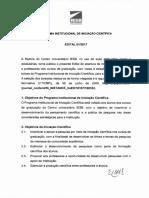 PROGRAMA INSTITUCIONAL DE INICIAÇÃO CIENTIFICA