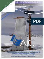 Informe Hidrometeorológico AIC - Junio 2017