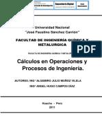 Calculos de Operaciones y Procesos Quimicos