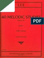 violoncelo - método - sebastian lee - 40 estudos melodicos - opus 31 - livro 1.pdf