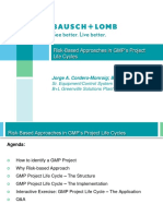 Risk-Based Approaches in GMP's Project